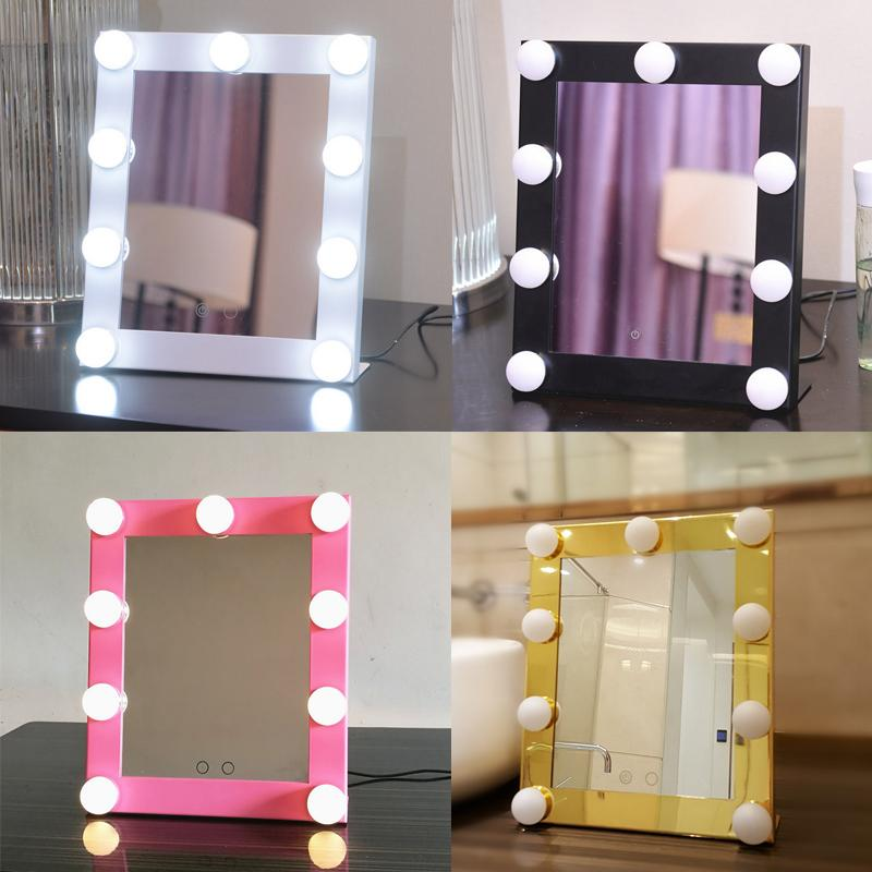Picture of: Colored Frame Hollywood Vanity Mirror