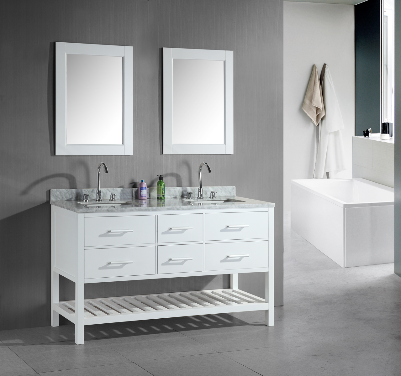 Image of: Console Small Double Sink Vanity