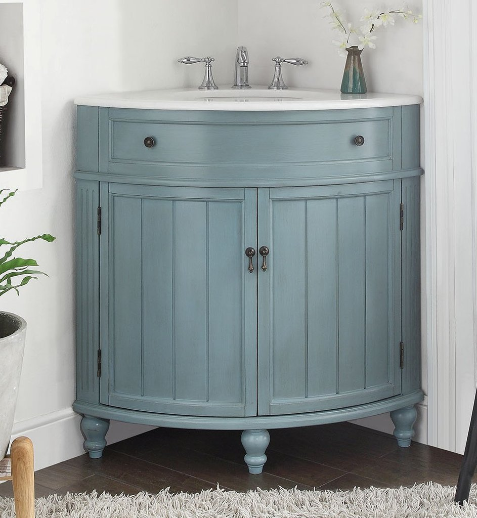 Image of: Corner Bathroom Vanity Paint