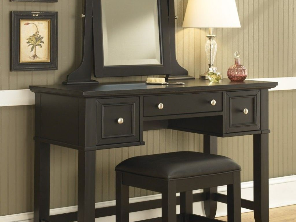 Picture of: Corner Vanities for Bedroom with Lights