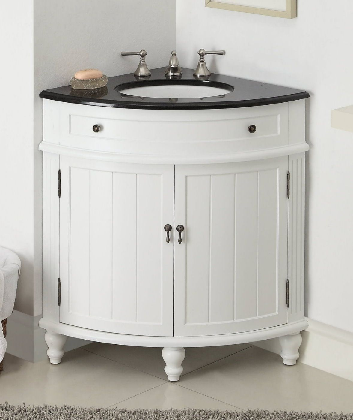 Image of: Cottage Corner Bathroom Vanity