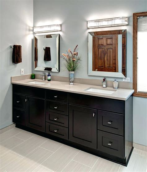 Image of: Custom Double Vanity Mirror