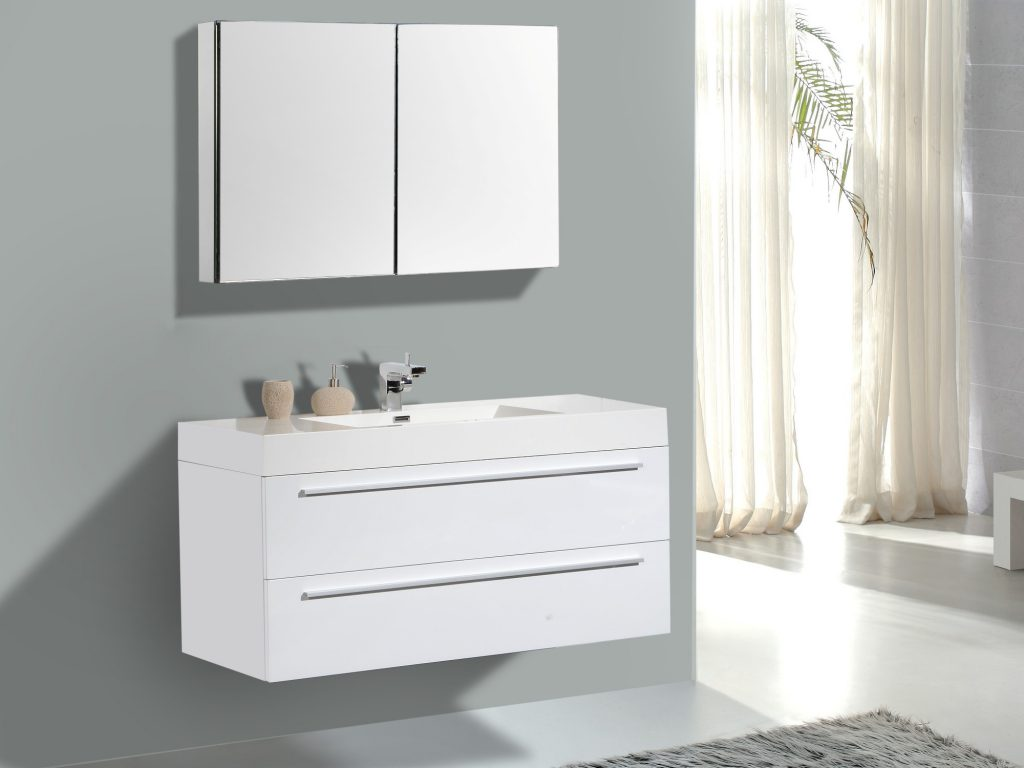 Image of: Design White Double Vanity