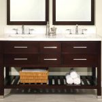 Double Sink Vanity Brown