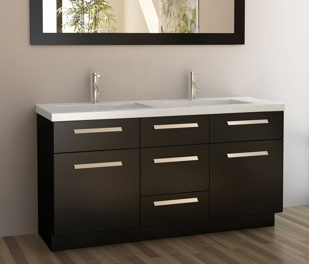 Image of: Double Sink Vanity Cabinet