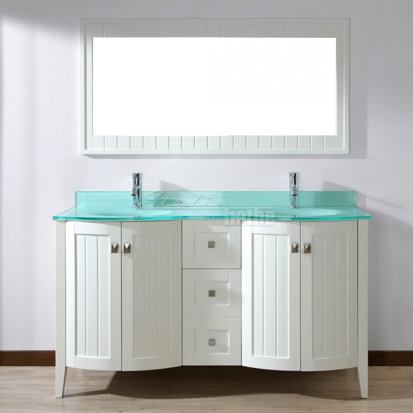 Image of: Double Sink Vanity Color