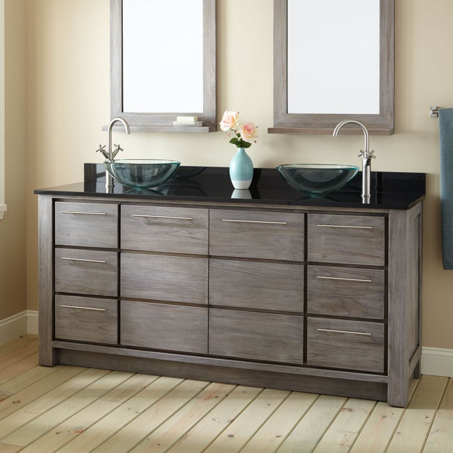 Modern Double Sink Vanity Zeru Table