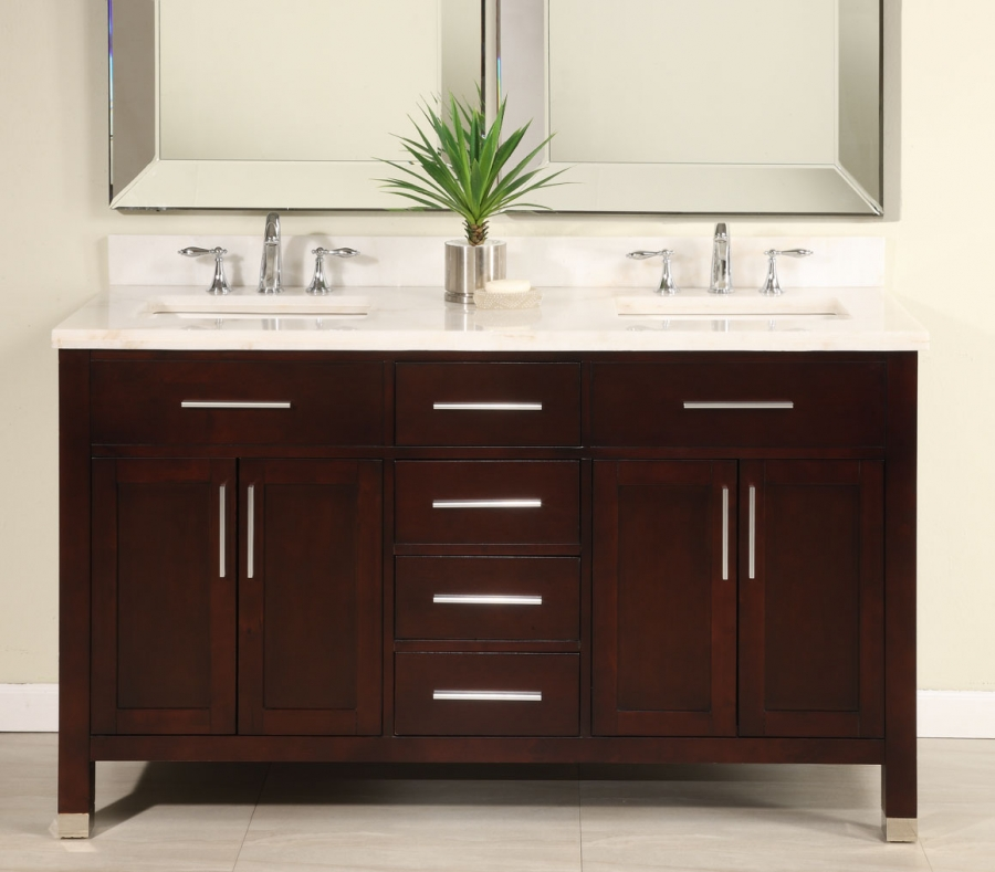 Image of: Double Sink Vanity Paint