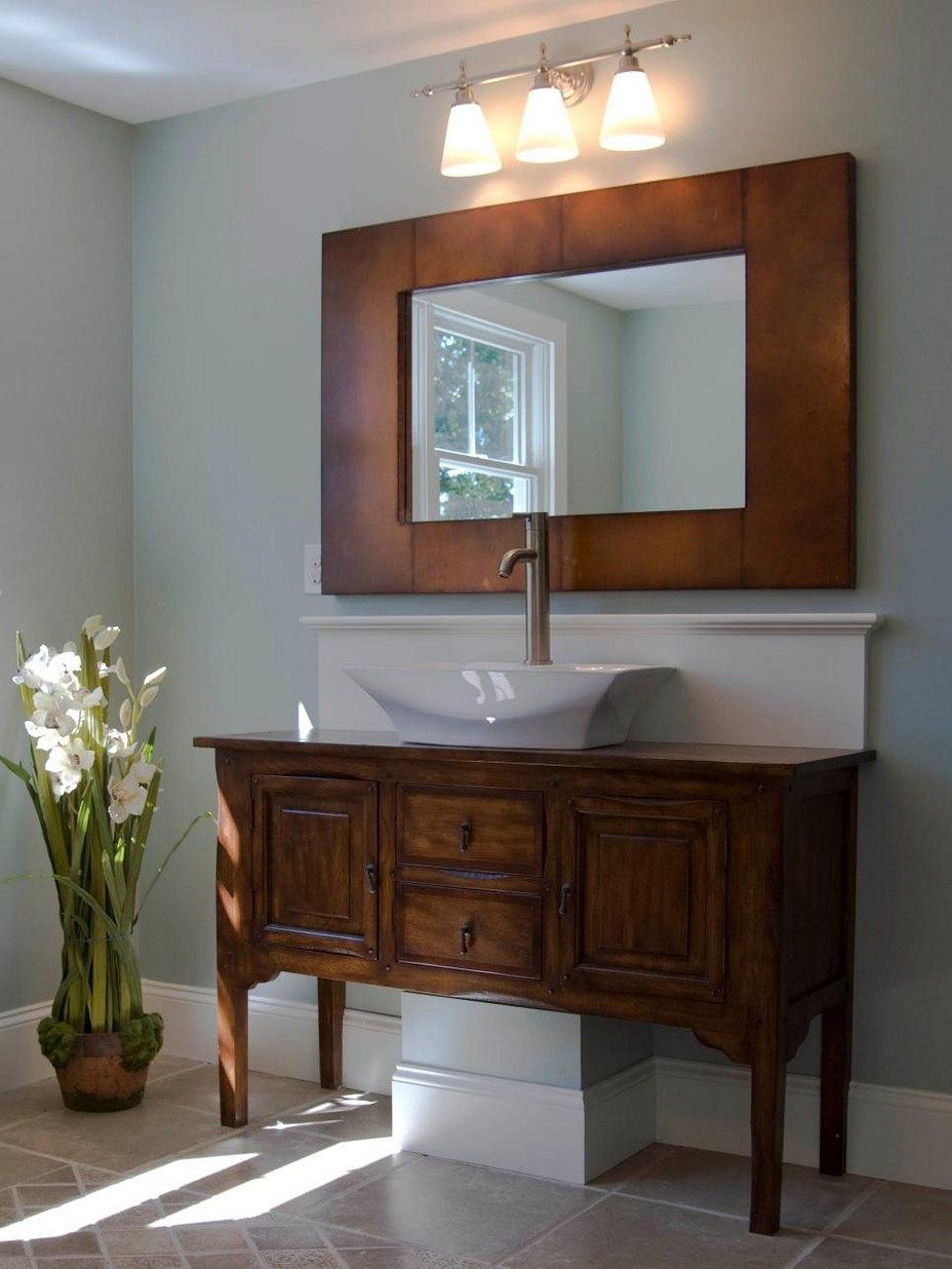 Image of: Double Vanity Bathroom Drawer