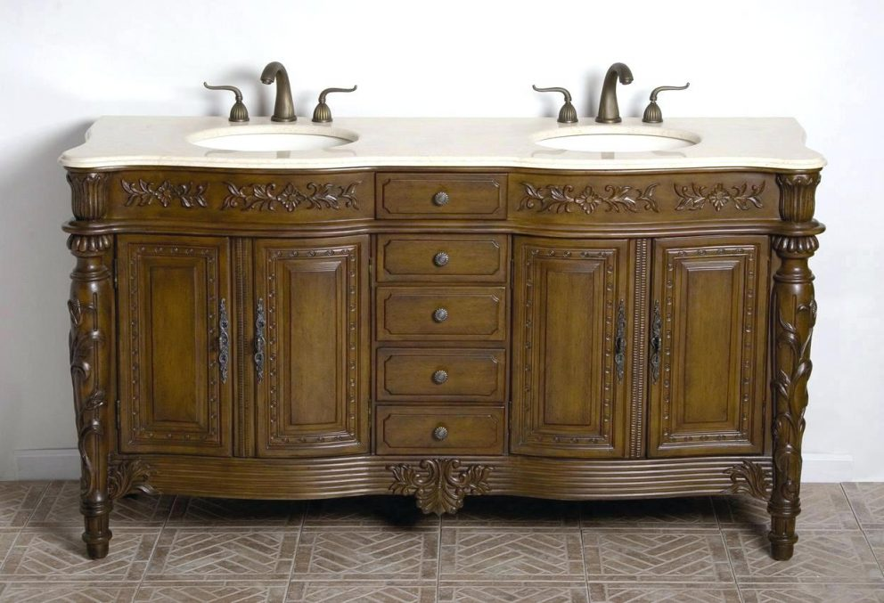 Image of: Double Vanity Wood