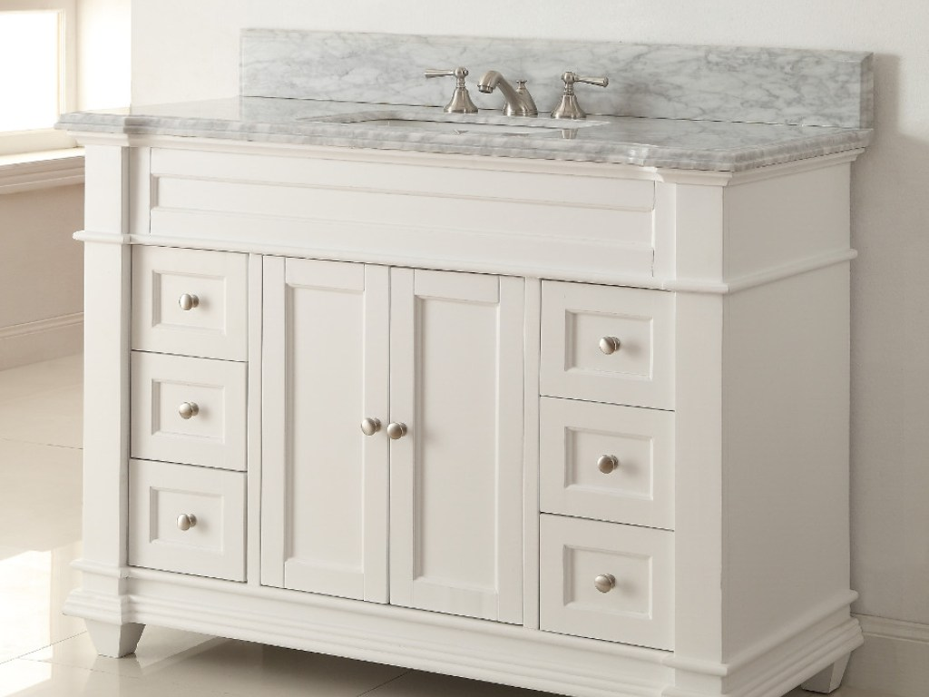 Image of: Double White Double Vanity