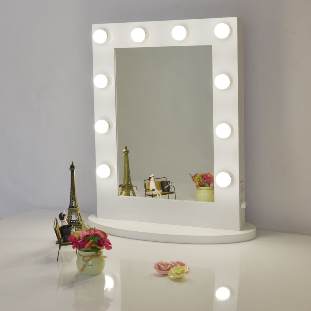 Picture of: Easy Hollywood Vanity Mirror With Lights