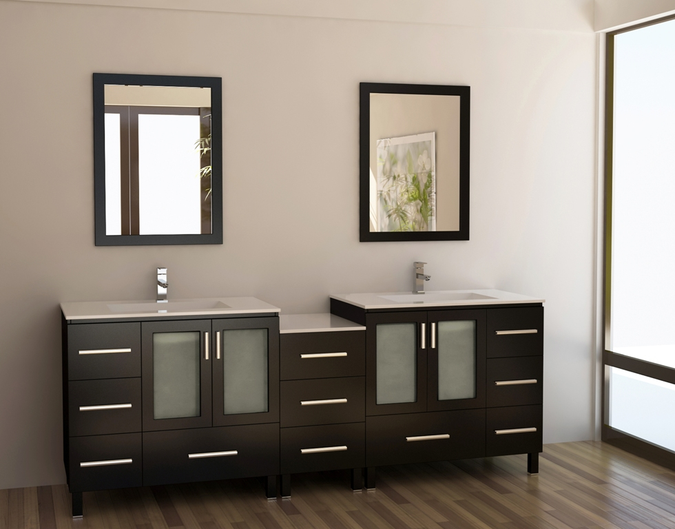 Image of: Fancy Double Vanity Bathroom