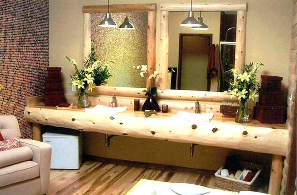 Image of: Farm Rustic Double Vanity