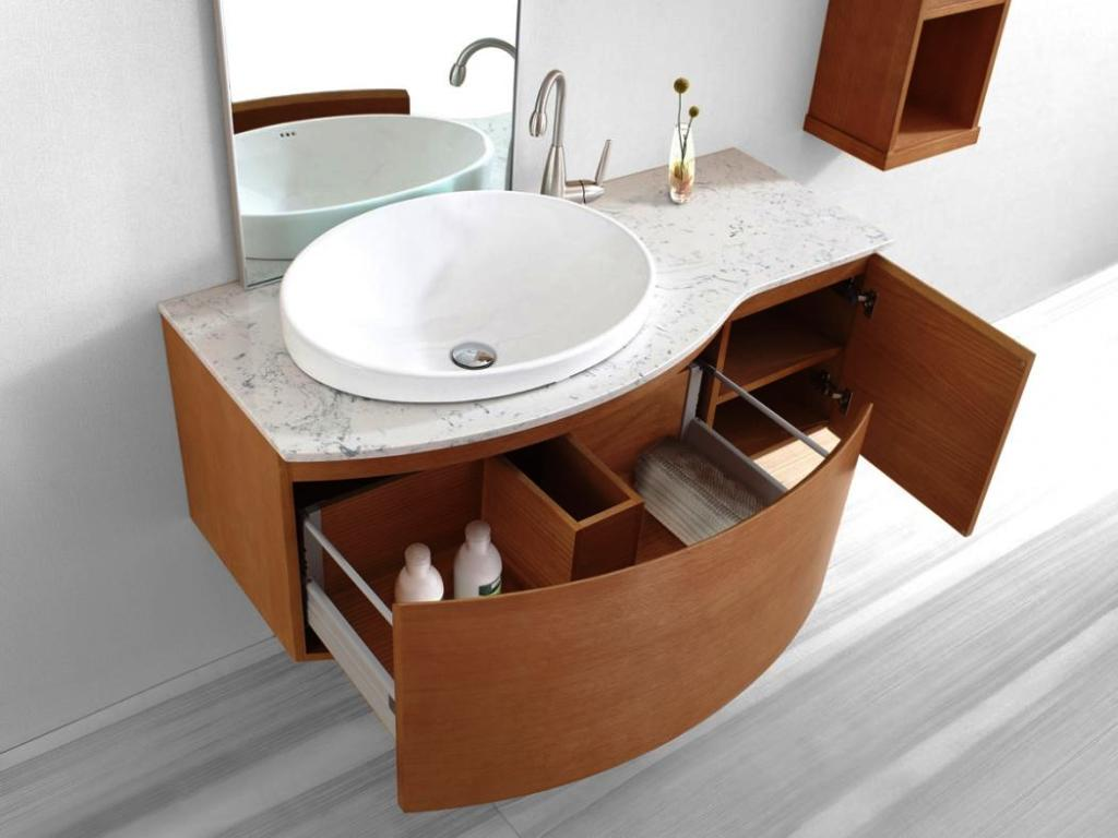 Image of: Floating Bathroom Vanity Drawers