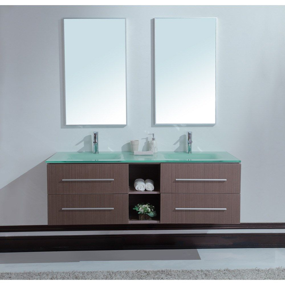Picture of: Floating Double Sink Vanity
