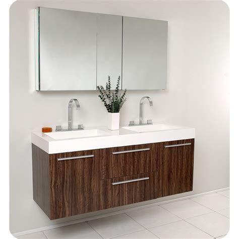 Image of: Floating Double Vanity Bathroom