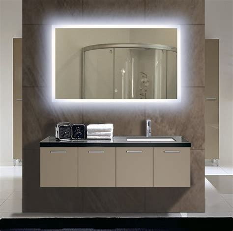 Image of: Floating Double Vanity Mirror