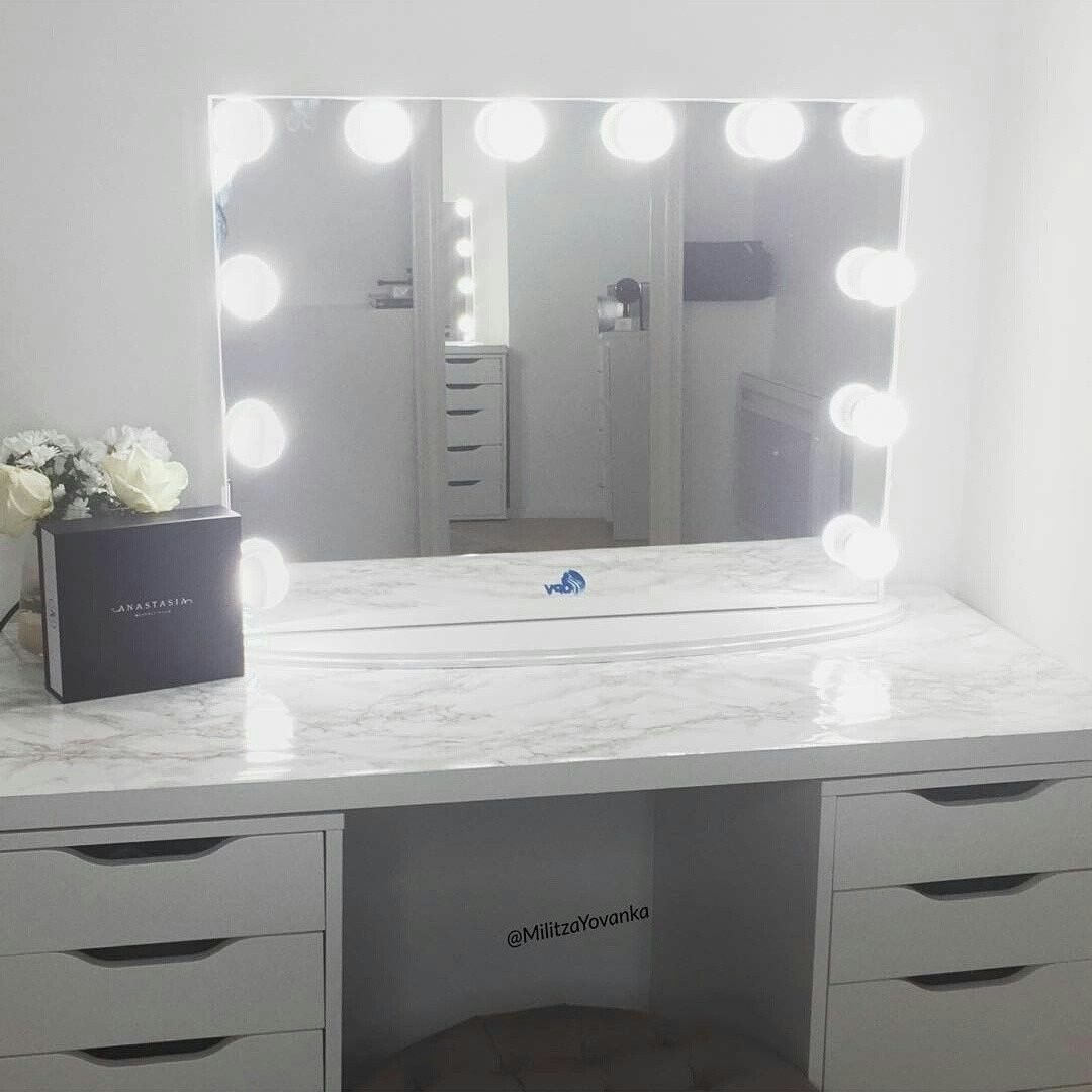 Picture of: Frameless Hollywood Vanity Mirror