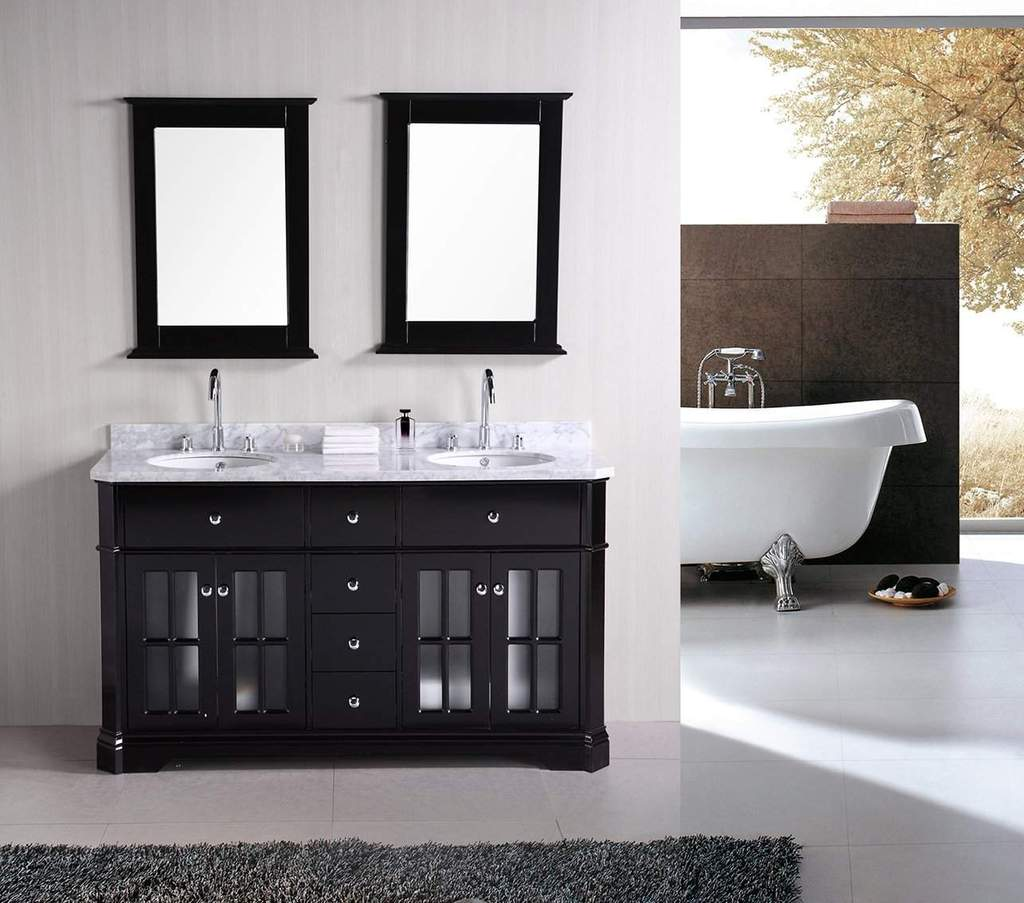 Picture of: Freestanding 60 Inch Double Sink Vanity