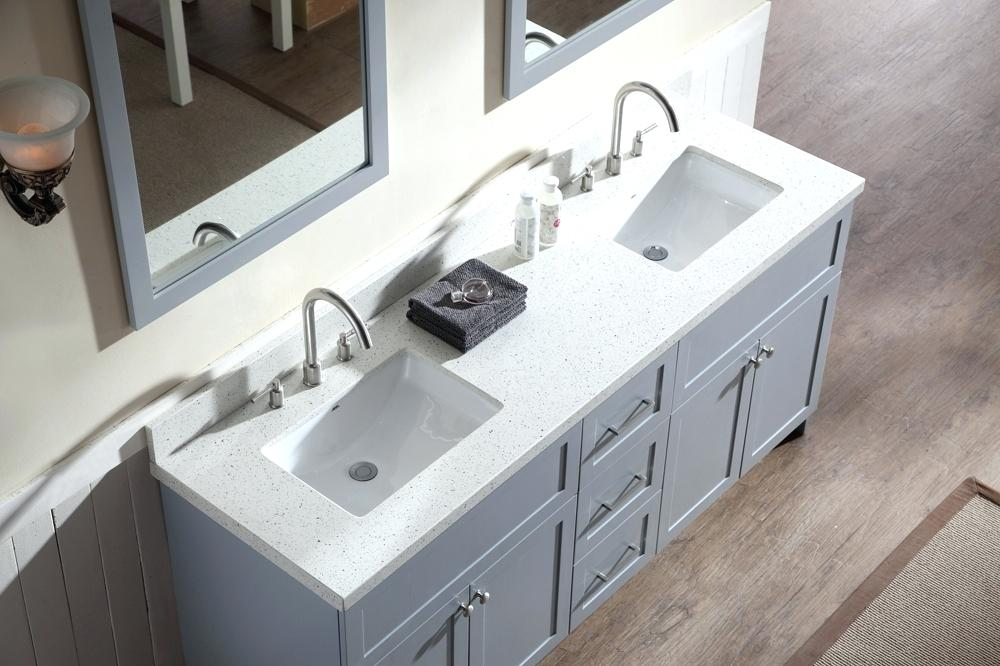 Picture of: Gray 48 Inch Double Sink Vanity