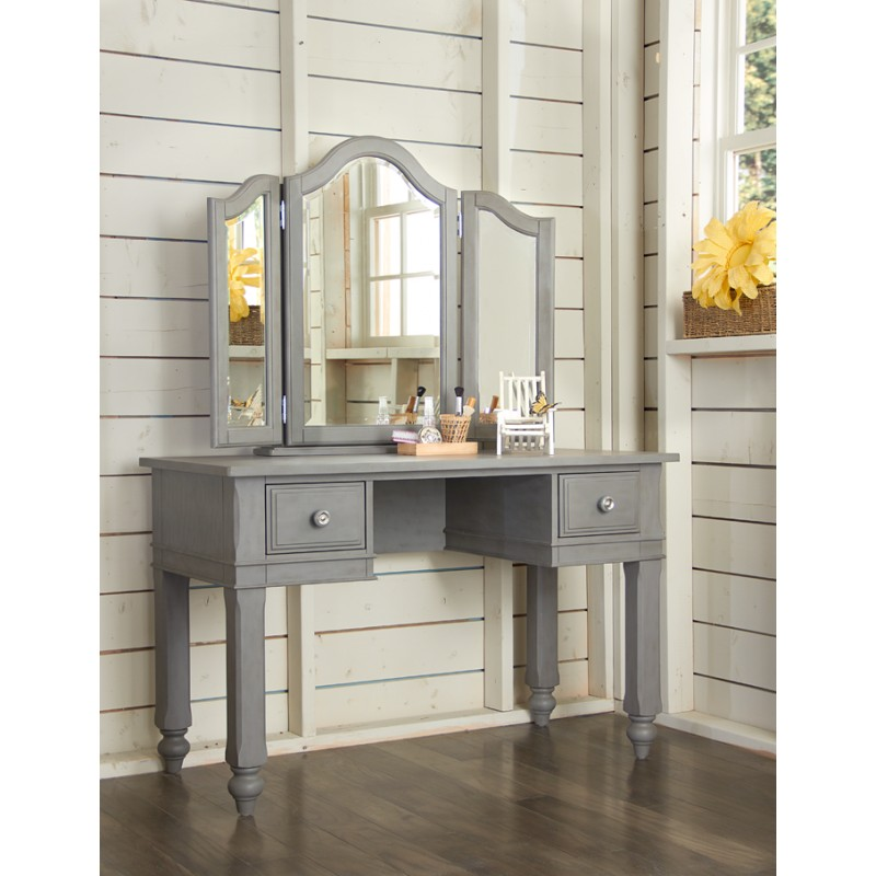 Picture of: Gray Vanity with Mirror