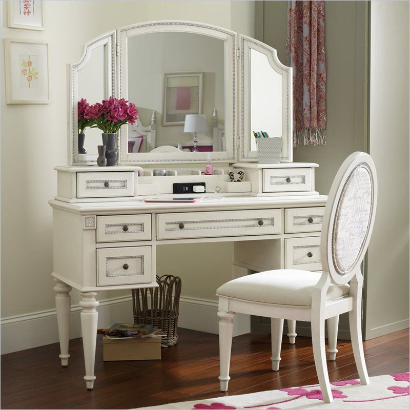 Picture of: Great Vanity Desk with Mirror