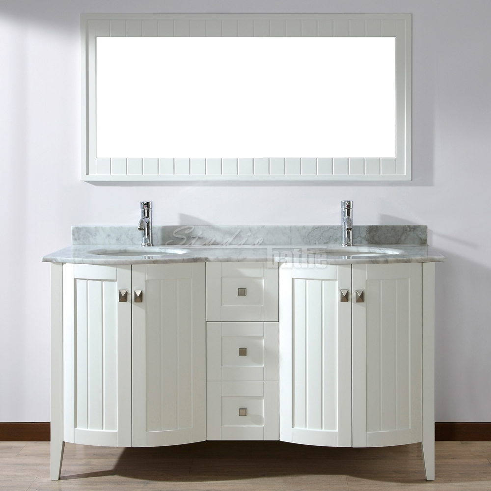 Hand Stained 60 Inch Double Sink Vanity