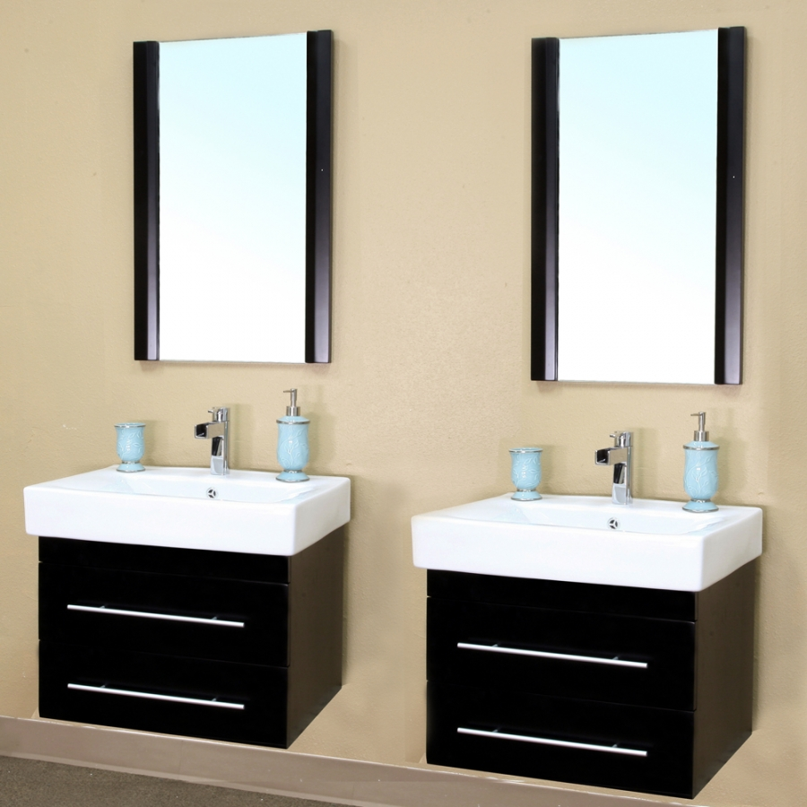 Hanging Small Double Sink Vanity