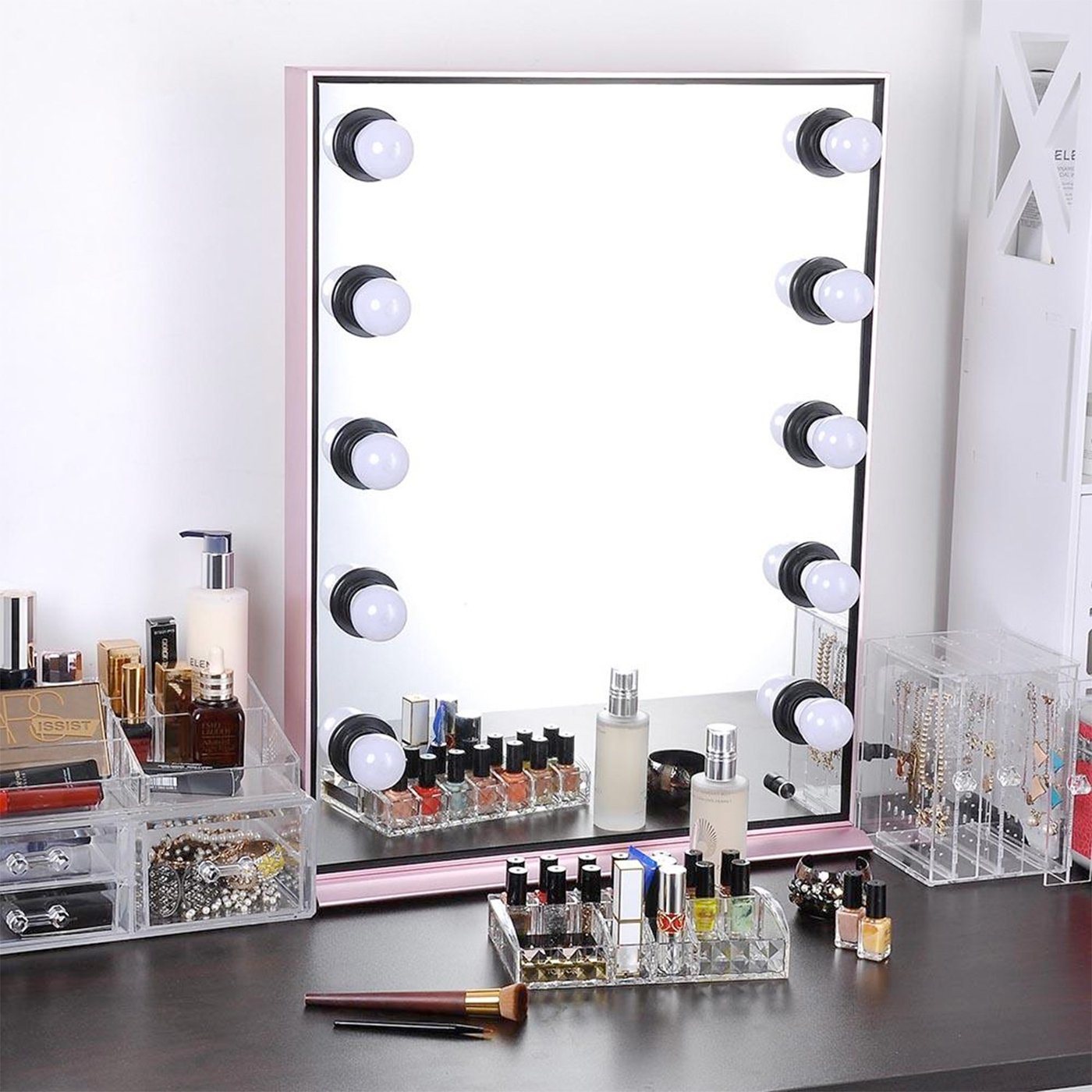 Picture of: Hollywood Vanity Mirror with Dimmable Light