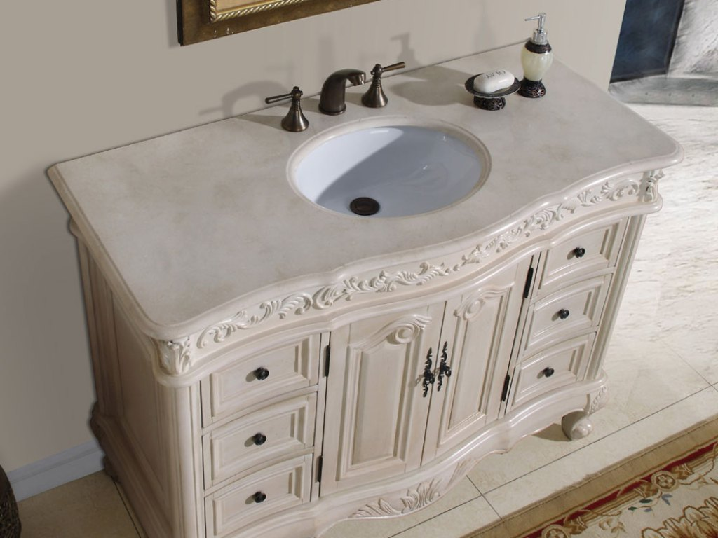 Image of: Home White Double Vanity