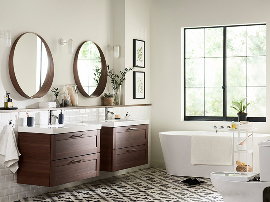 Image of: Ikea 48 Double Vanity