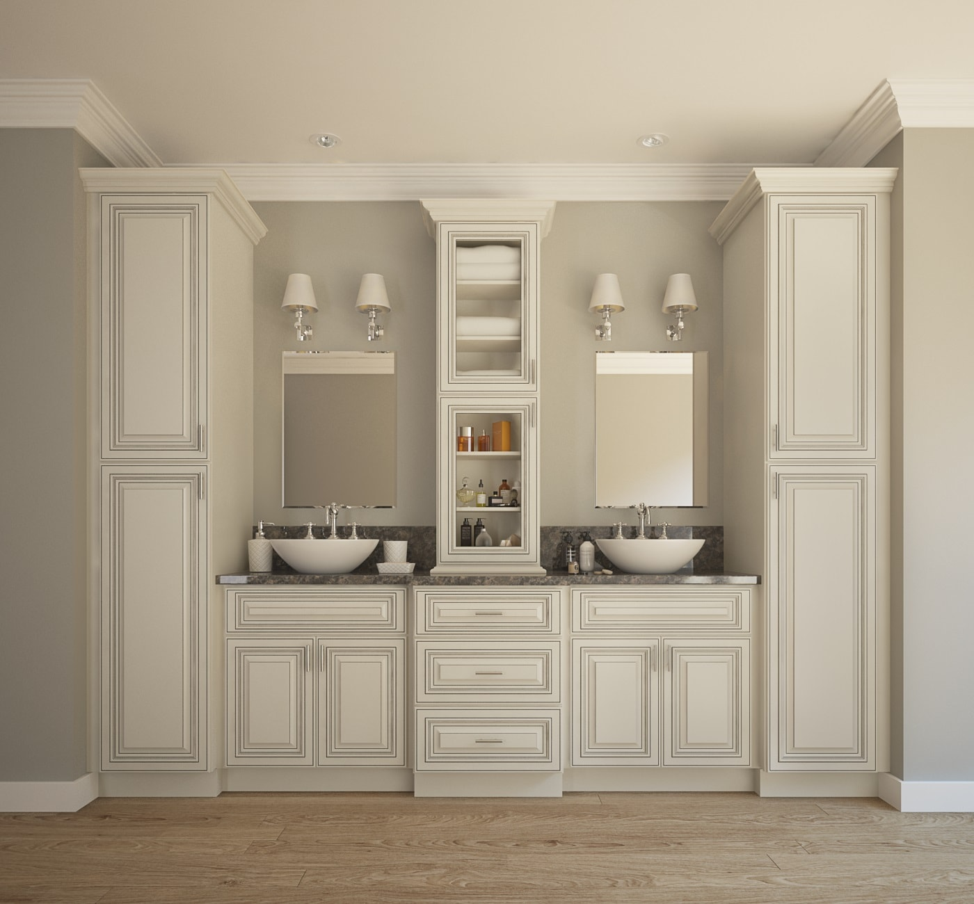 Image of: Ikea Double Vanity Large