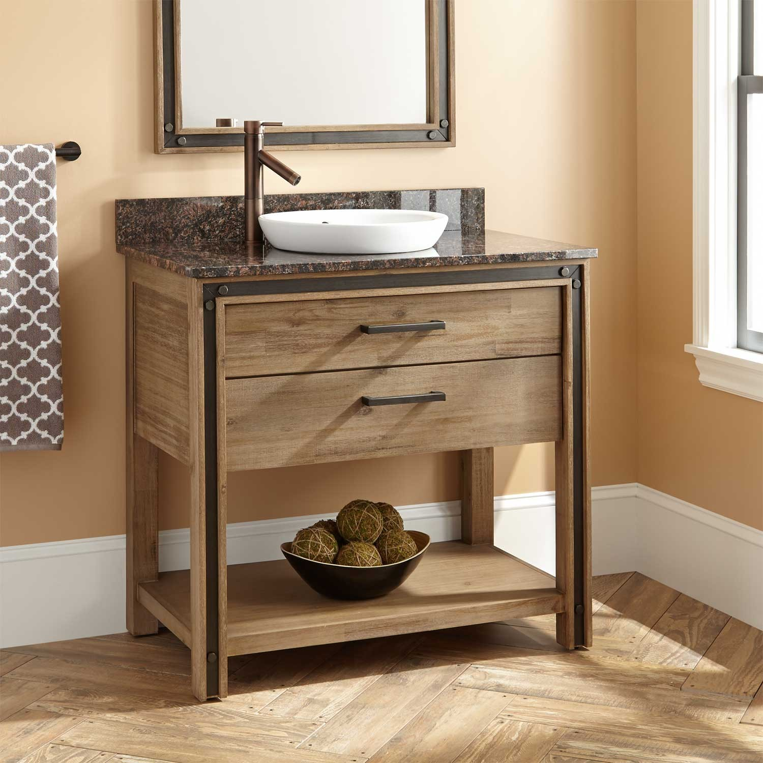 Image of: Ikea Double Vanity Shelf