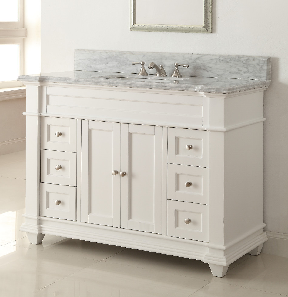 Image of: Ikea Double Vanity White