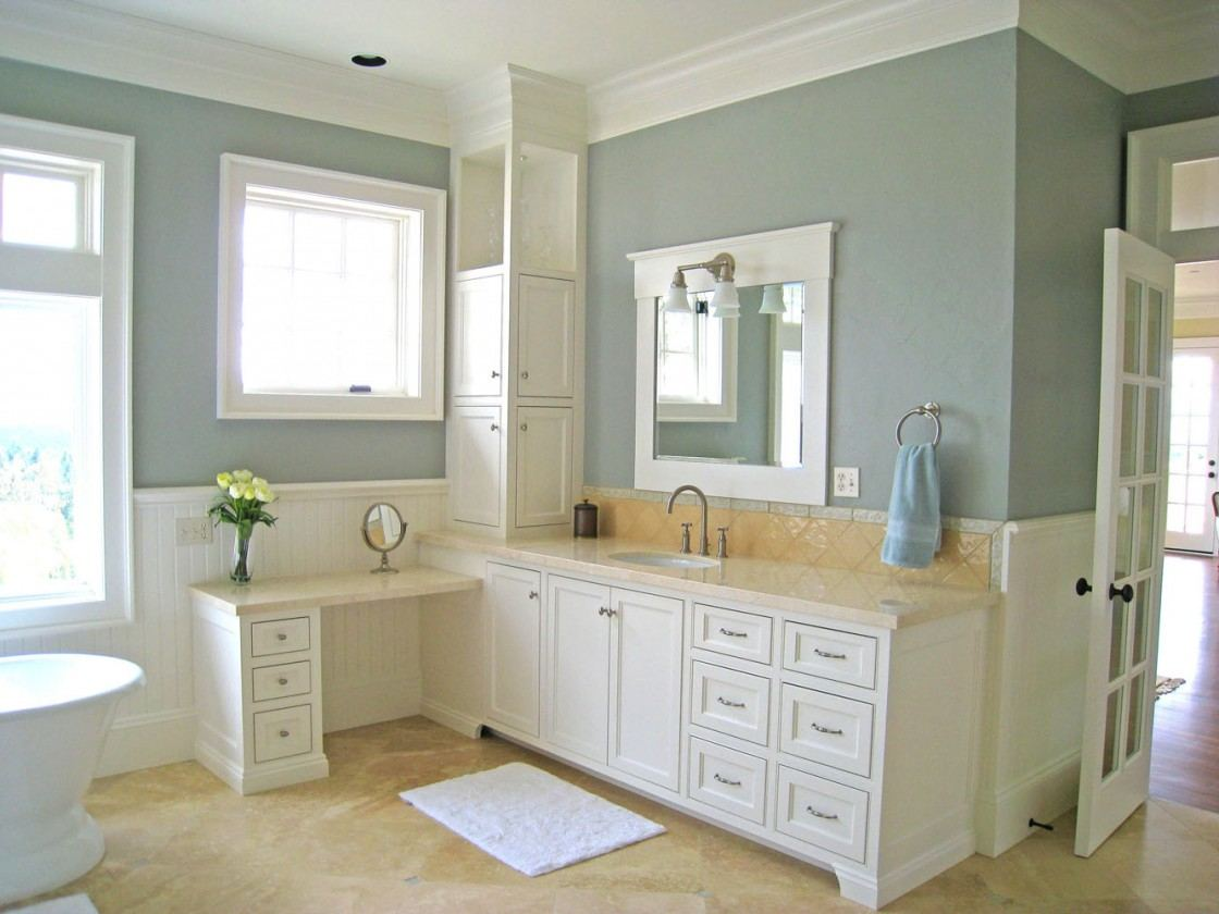 Image of: L White Vanity Mirror