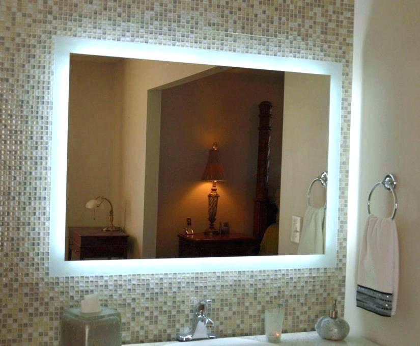 Picture of: Large Vanity Mirror with Light Bulbs Ideas