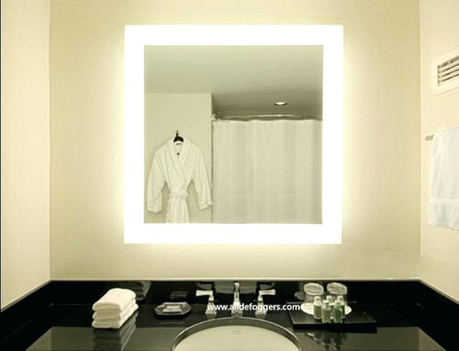Picture of: Large Vanity Mirror with Light Bulbs