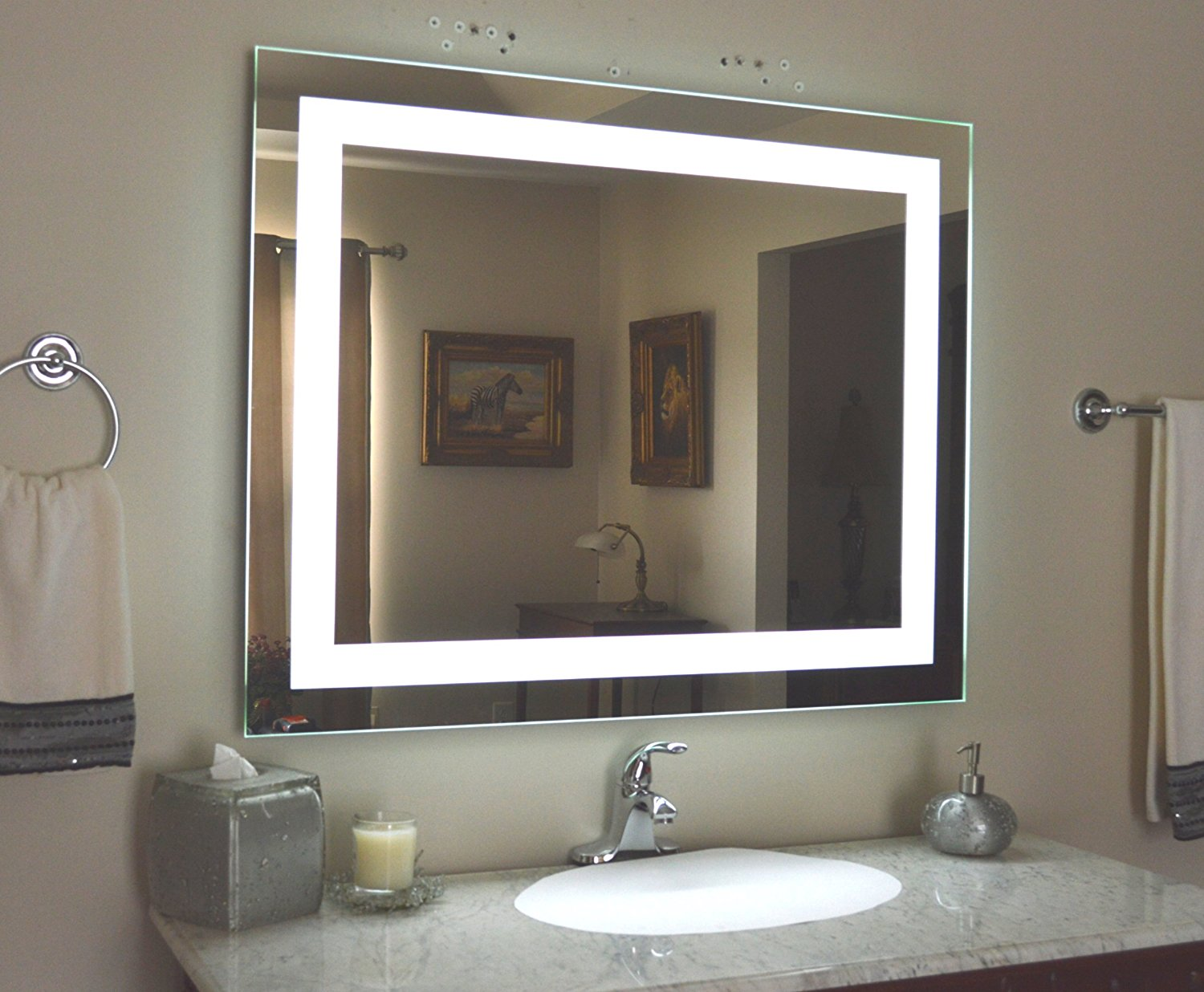 Image of: Led Vanity Mirror With Lights Diy