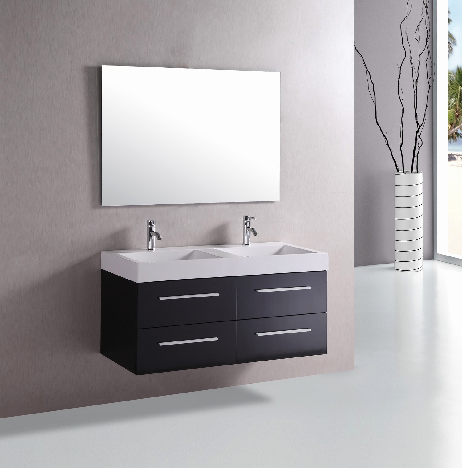 Picture of: Luxury 48 Inch Double Sink Vanity