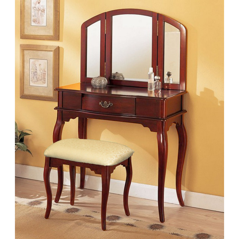 Picture of: Mahogany Bedroom Vanity Mirror