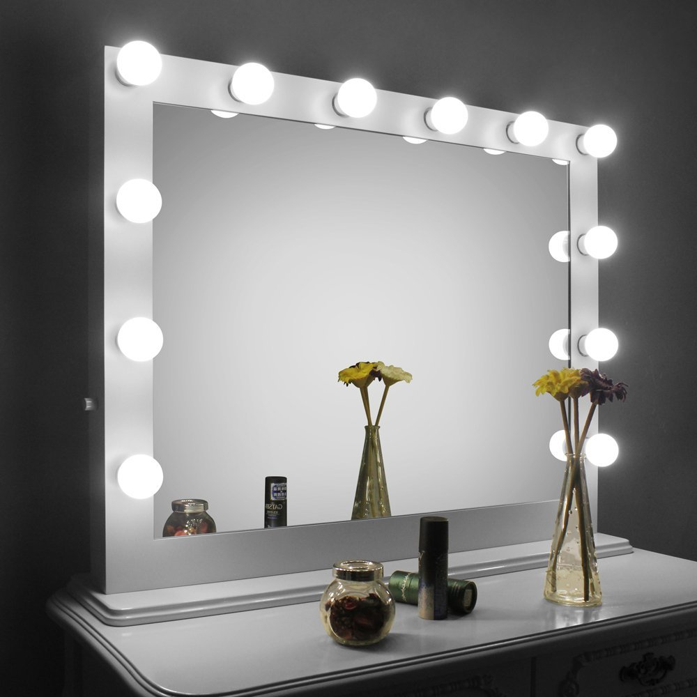 Picture of: Makeover Hollywood Vanity Mirror