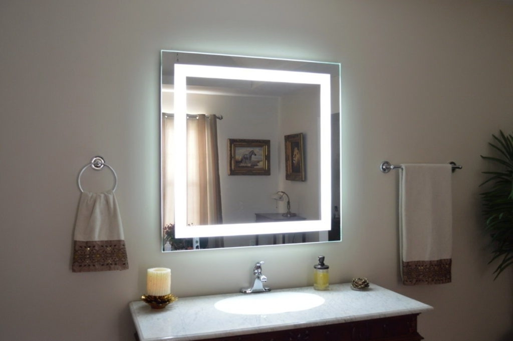 Image of: Modern Bedroom Vanity With Lights