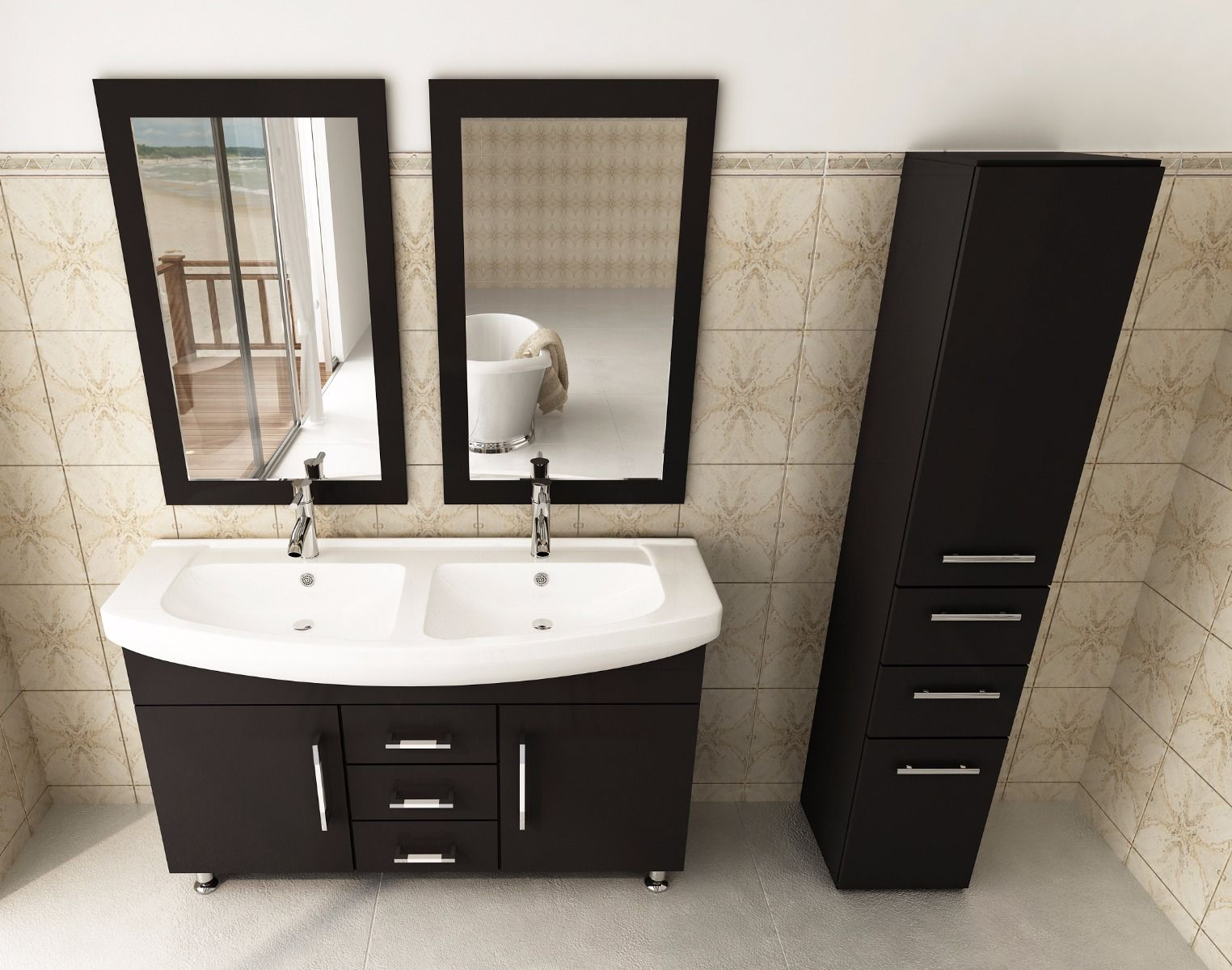 Picture of: New 48 Double Sink Vanity