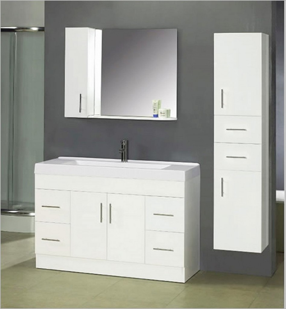 Image of: New White Vanity Mirror