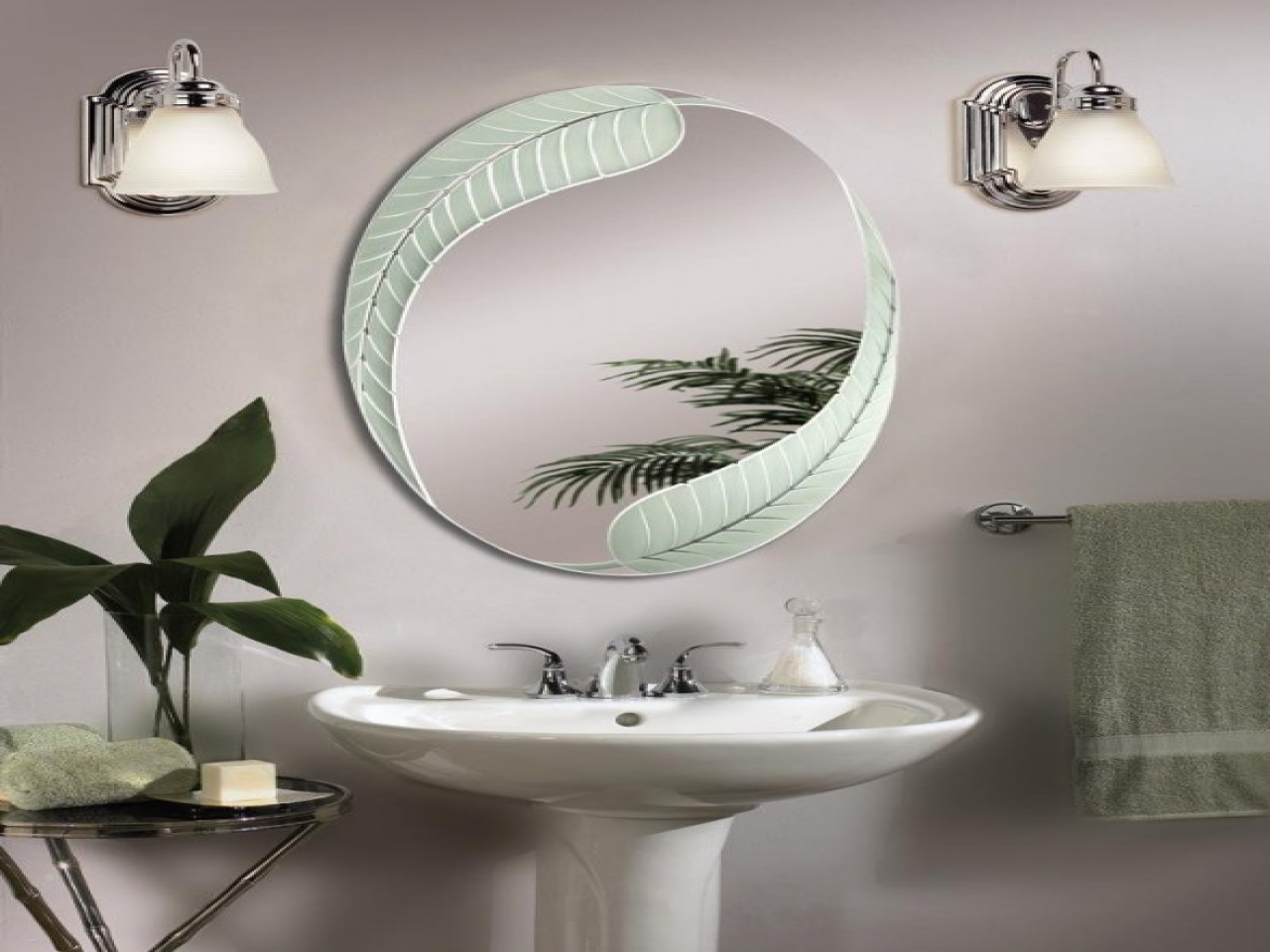 Picture of: Oval Vanity Mirror Cover
