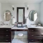 Oval Vanity Mirror Double
