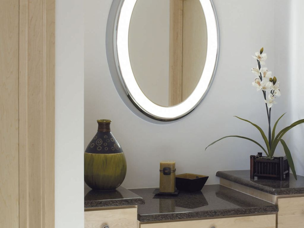 Picture of: Oval Vanity Mirror Modern