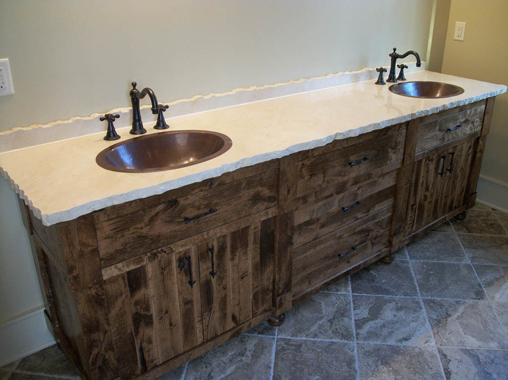 Image of: Reclaimed Rustic Double Vanity