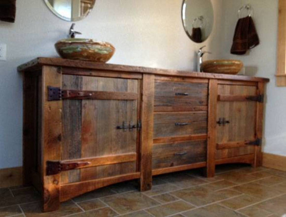 Image of: Rustic-Bathroom-Vanities-DIY